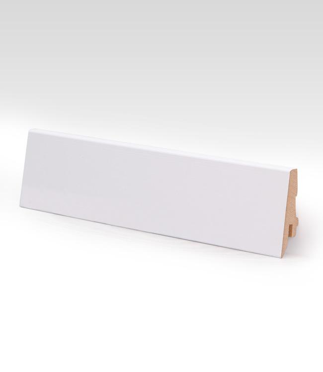 Dřevěná MDF podlahová lišta - bílá LK70C